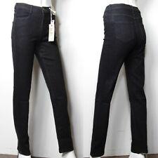 M&s Mid Rise & Straight Leg Denim Jeans ~ Größe 8 Regular ~ schwarz