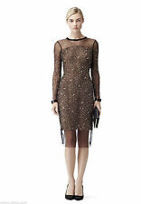 Nylon Round Neck Long Sleeve Dresses Midi