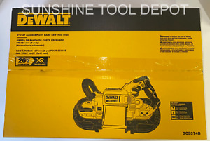 DEWALT DCS374B 20V MAX XR Cordless Li-Ion Cordless 5 Inch Deep Cut Band Saw
