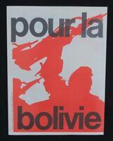 Supplément à ROUGE n°37 POUR LA BOLIVIE Ligue Communiste Krivine 1968