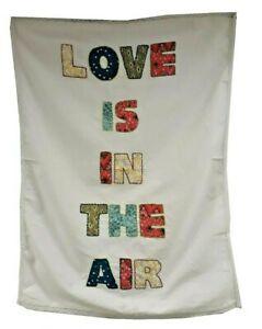 ex Monsoon 'Love Is In The Air' tea towel - BUY ONE GET ONE FREE!