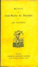 Livre oeuvres de José-Maria de Heredia book