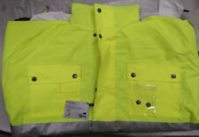 HI VIS PARKA JACKET CLASS 3  LINED WATERPROOF NEW SZ M GLO-P1 - MISSING A BUTTON