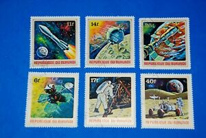 Apollo 11 - Vostok - Apollo-15 - Luna-1 - Soyuz 11 = Space Complete Set of 6 q20