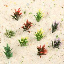 100pcs 1:100 Scale Colorful Model Flowering Plants Railway Park Garden Scenery