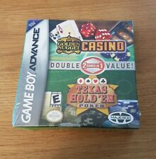 NEW 2in 1 Casino & Texas Hold Em PokerGBA Gameboy Advance DS Lite Factory Sealed