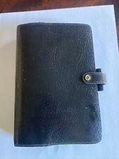 Filofax Winchester Black 4clf 78 Personal Size Organizer Planner Binder Vintage