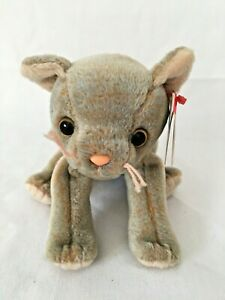 Ty Beanie Baby SCAT the Cat MAY 27,1998 retired MWMT plush stuffed animal toy