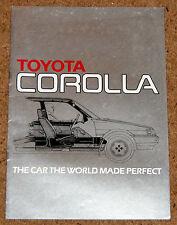 1983 TOYOTA COROLLA UK Launch Brochure (New E80 FWD Model) Salon Liftback Estate