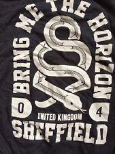 Bring Me The Horizon Band Crew Sweatshirt sz XL Metalcore Hardcore Punk Alt UK