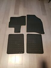 2010 thru 19 Taurus OEM Genuine Ford Black Rubber All Weather Floor Mat Set 4-pc