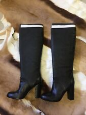 Brand New Genuine Leather Mimco Black Femme Fatale Boots - Size 37