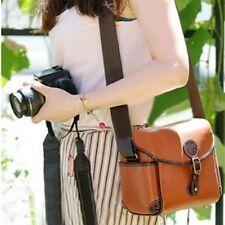 Vintage Leather Shoulder Camera Bag For Canon 550D Nikon DSLR Case Brown New