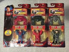 DC Comics Quick Shots SuPeRmAn KRYPTON CLASH,ATTACK ARMOR & FIRE FLIGHTER Lot