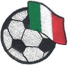 """1.5"""" Soccer Ball with Flag of Ireland Embroidery Patch"""