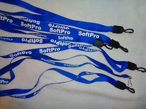 SOFTPRO  Set of Six  Lanyards  BRAND NEW  Bundle  Royal Blue  Plastic  Closure