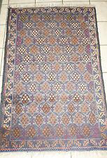 Vintage Turkeman Balutch Afghan Hand Knotted Wool Animal Motif Rug