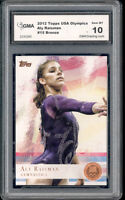 2012 Aly Raisman Topps Usa Olympics Gymnist Bronze Foil Rookie Gem Mint 10 #15