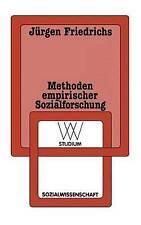 Methoden empirischer Sozialforschung (wv studium) (Volume 28) (German-ExLibrary