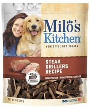 Milo's Kitchen Steak Grillers Recipe Real Beef 10 Oz Bag BB 9/28/20