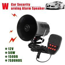 AU 7-Sound 12V Car Security Warning Alarm Speaker Police Fire Loud Siren Horn KV
