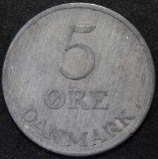 1953   Dinamarca 5 Ore   Zinc   monedas   KM monedas