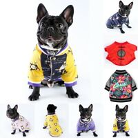 Pet Bulldog Small Dog Puppy Coat Jacket Sweater Shirt Apparel Outwear Clothes