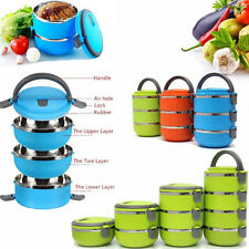 Thermal Insulated 1/4 Stainless Steel Food Container Lunch Picnic Box TP