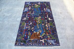 hand made afghan  balochi rugs,pictorial rugs, tapestry, size 196 cm x 108 cm