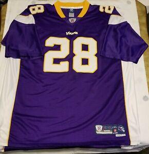 Adrian Peterson #28 Minnesota Vikings Reebok On Field Stitched Jersey Size 2XL