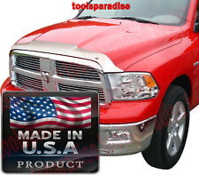 CHROME Hood Shield BUG DEFLECTOR 2009 - 2018 Dodge RAM 1500 DEFENDER GUARD