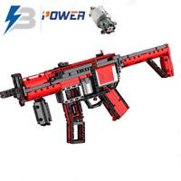 Technic MP5 Army Gun Weapon 42056 42083 Building Blocks Bricks MOC pistol