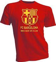 FC Barcelona España Spain Soccer Futbol T Shirt Camiseta - Mes que un club  red 4c75b31aebb