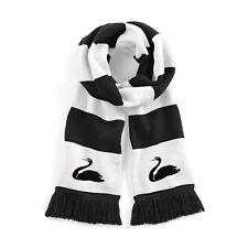 Retro Swansea City 1960er jahre Schwarz/weiß Traditionell Fußball-schal