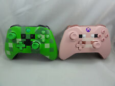 x2 Modded Controllers Minecraft Pig and Creeper - Microsoft Xbox Wireless