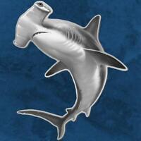 Solomon Island - 3D Hammerhai - 2$ 2019 BU - Silber - 31,1 Gramm