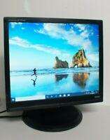 "Iiyama B 1706 S 17"" Moniteur LCD PC Affichage ÉCRAN + conduit support VGA DVI UK"