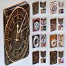 For LG Series Mobile Phone - Vintage Clock Print Wallet Flip Case Phone Cover