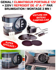 PROMO! GENIAL CLIMATISEUR 12V MONTAGE 1MN REFROIDIT DE 7° VOITURE CAMPING-CAR