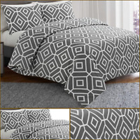 Charcoal Icons 100% Egyptian Cotton Fine Printed Duvet Cover Sets/Quilt Set
