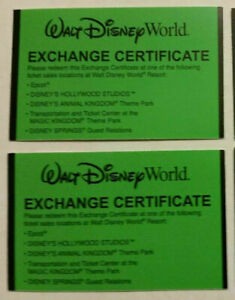 Two Florida Resident Disney 4 Day ( 1 Park per Day)Tickets