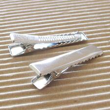 US SELLER- 40 pc x 35mm Steel Alligator Clips/Single Prong w/Teeth for Kids HC02