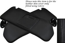 BLACK STITCHING FITS SUZUKI VITARA 1988-1998 2X SUN VISORS LEATHER COVERS ONLY
