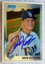 Tampa Bay Rays Drew Vettleson Signed 2010 Bowman Chrome Draft 1st Card Auto