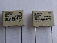 25 Iskra .001uF 300VAC 300V 275V 250V 100V Y2 safety polypropylene capacitors