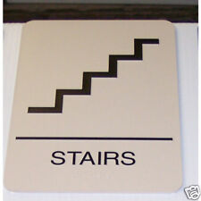 Real Stairs Braille Sign
