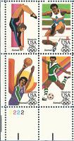 Stamps C101 C105 C109 Summer Olympics 1984 Los Angeles Zip Plate Blocks Custom