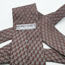 Vintage  Hardy Amies Necktie Brown Neck Tie