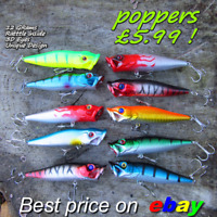 5 Genuine HENGJIA fishing popper lures shad rap surface pike perch trout baits