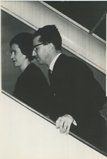 The King and Queen of Belgium for the President Kennedy's funeral Vintage s